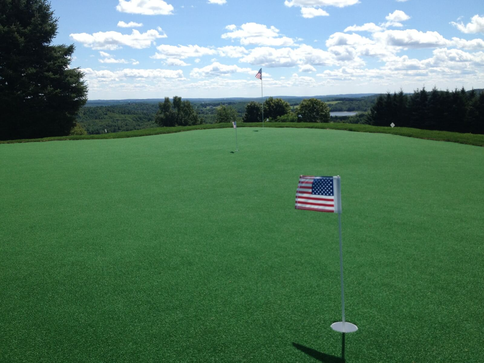 Putting Green w American Flag