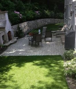 patio waterless grass