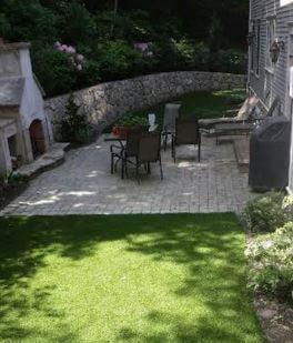 patio waterless grass