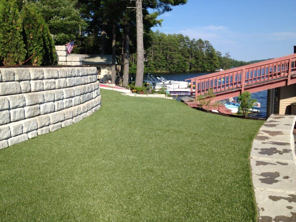 Synthetic Turf Along the Lake