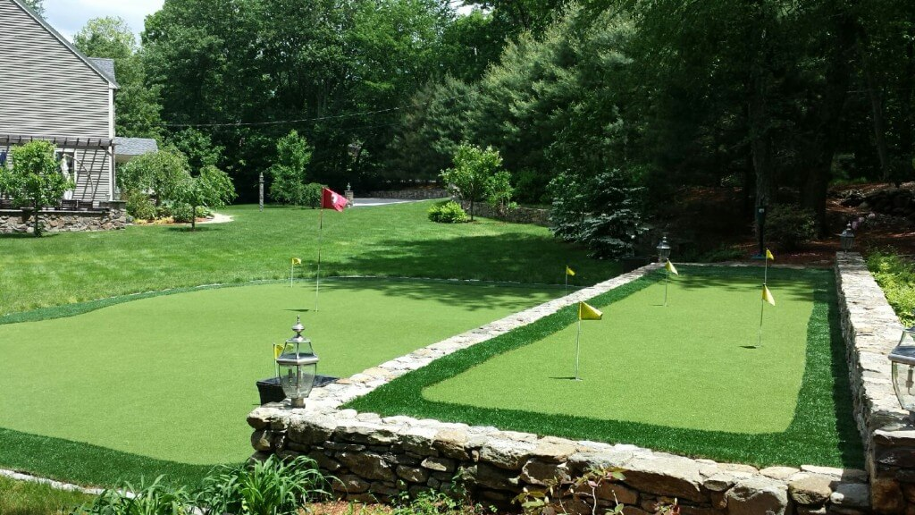 backyard golf course