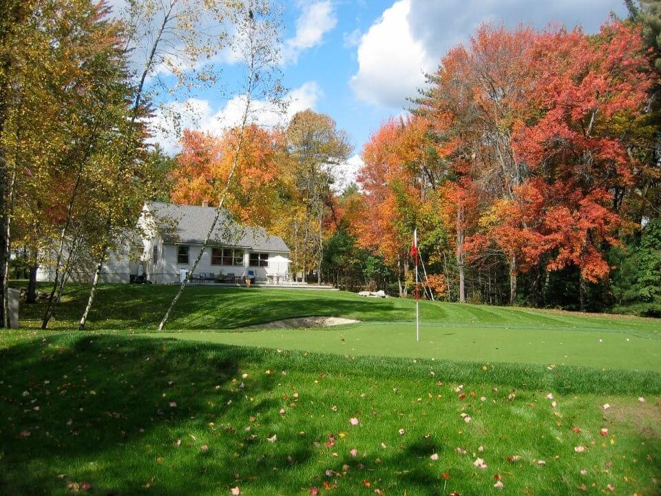 Backyard Putting Green in the Autumn