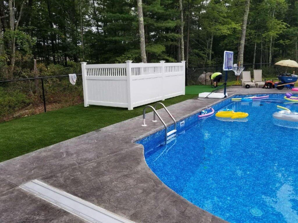 Synthetic Turf Surrounding Pool