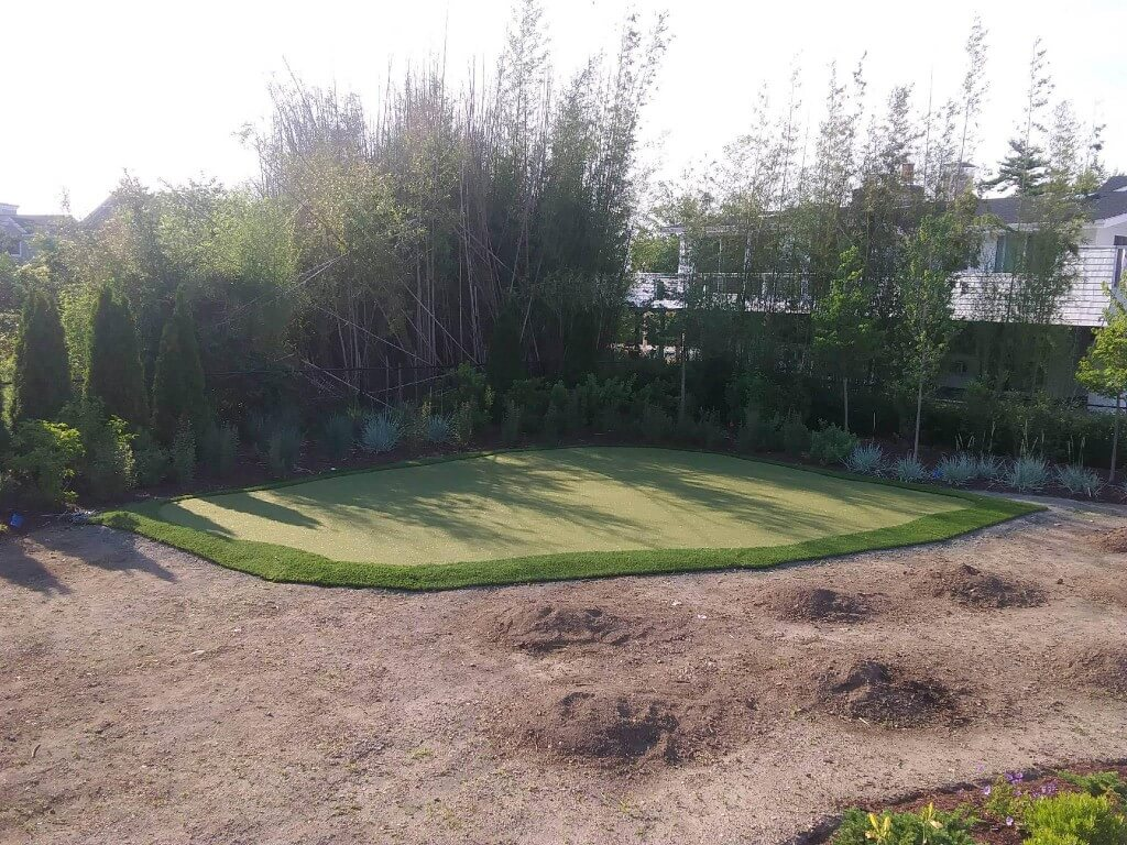 process of installing synthetic turf