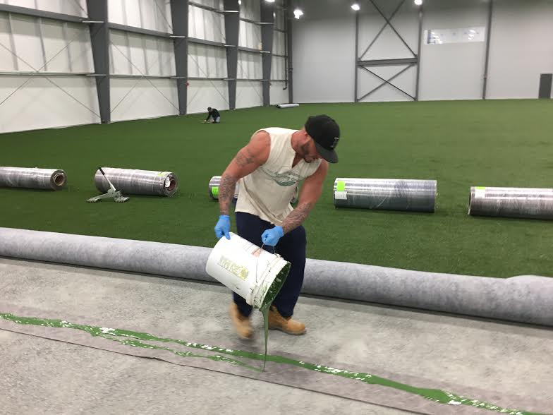 Essex Sports Plex Middleton MA. Turf field construction 30,000 sq ft field