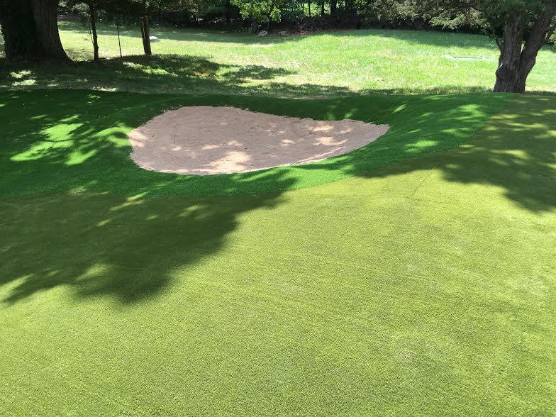 Synthetic grass fairway Bunker