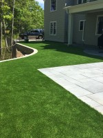 synthetic turf in backyard