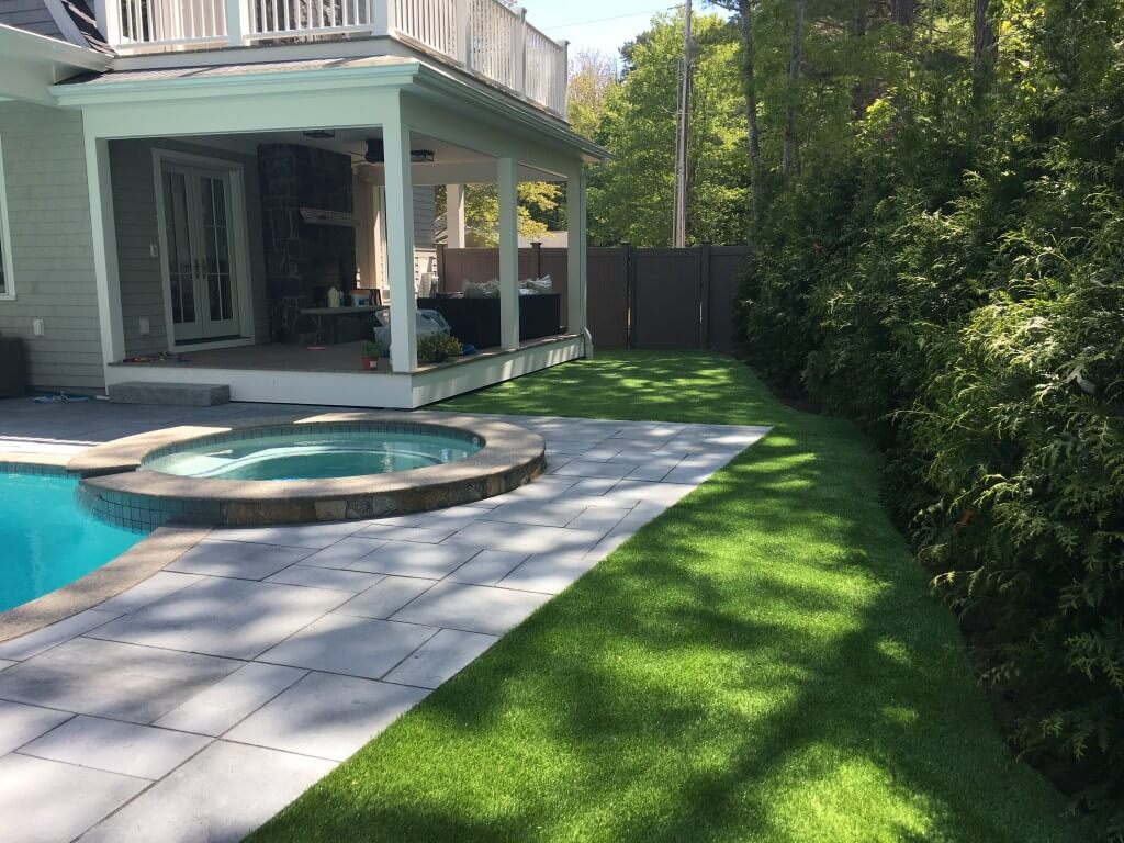 Synthetic Grass around Pool Area