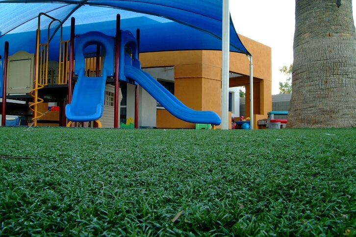 playground with synthetic turf